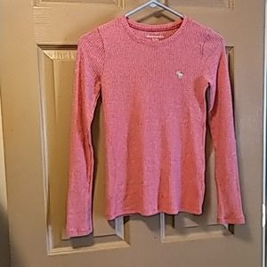 Abercrombie & Fitch girls ribbed long sleeve pink
